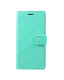MyCase Leather Folder iPhone XS 5.8 - Tiffany Blue