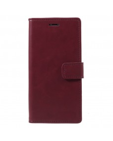 MyCase Leather Folder iPhone XS 5.8 - Berry Red