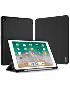 "Domo Leather Case For iPad 9.7"" Black"