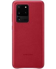Galaxy S20 Ultra Leather Cover - Red