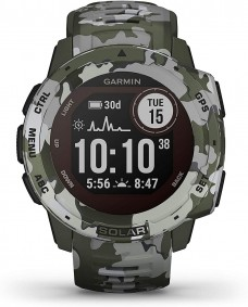 Garmin Instinct Solar Camo Edition Watch (Lichen)