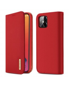 """Dux Ducis Wish Series Leather Case for iPhone 12 (6.7"""") red"""
