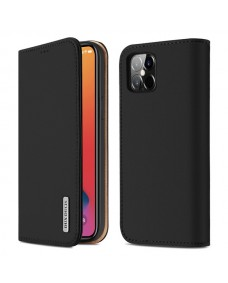 """Dux Ducis Wish Series Leather Case for iPhone 12 (6.7"""") Black"""