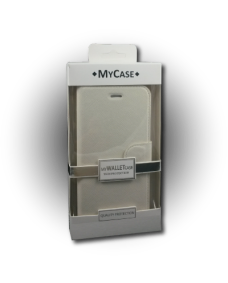 MyCase iPhone 6 PLUS Texture Wallet - WHT