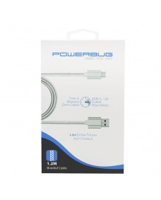 POWERBUG3 1.2m Braded Data Cable - Type-C