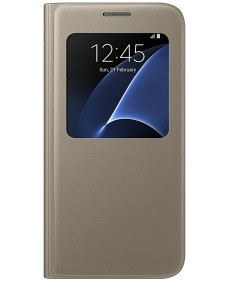 Samsung S7 S view cover Gold