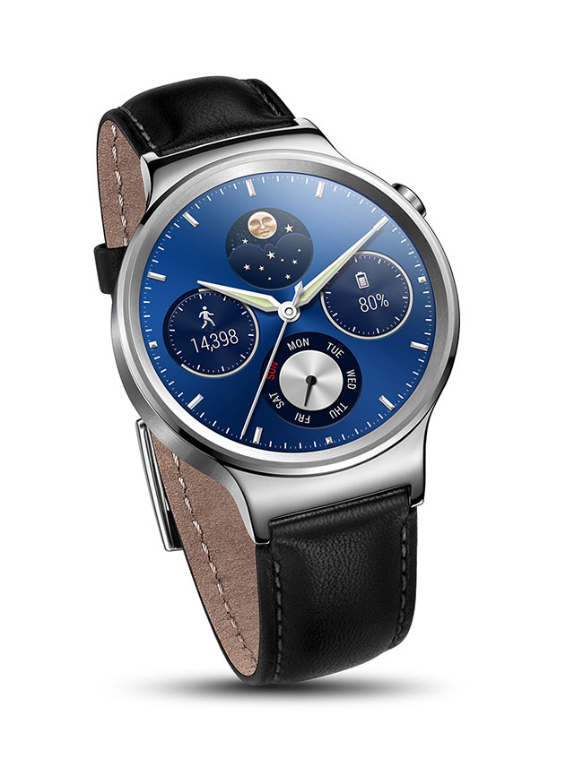 Huawei Watch - Black Leather Band
