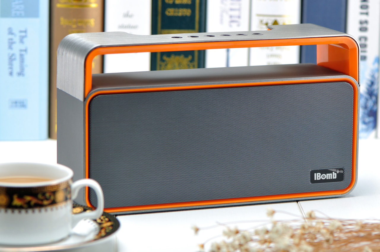 iBomb PARTY - Super Bass Bluetooth Speaker XL750 - Grey/Orange